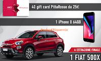 Logo PittaRosso ''Vinci con Reebok'' : 1.800 gift da 25€ , 45 Iphone e 1 Fiat 500X