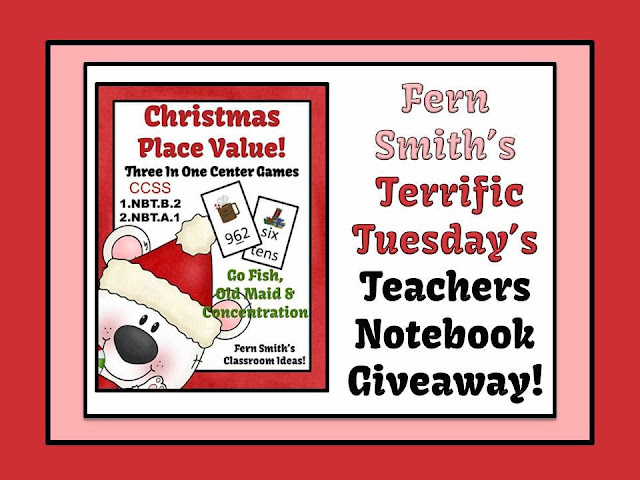 Picture of Fern Smith's Terrific Tuesday's Teachers Notebook Giveaway!