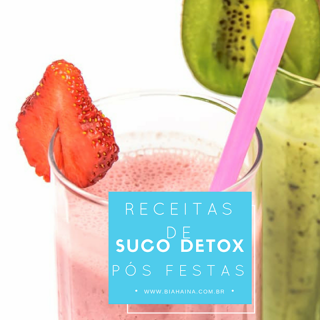 Receitas de Suco Detox para pós Festas