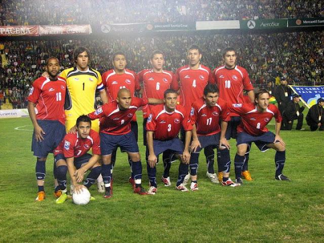 Formación de Chile ante Bolivia, Clasificatorias Sudáfrica 2010, 15 de junio de 2008