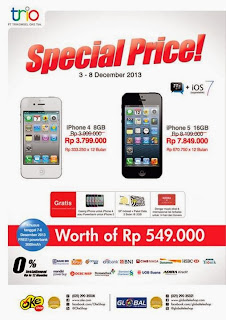 Harga Spesial iPhone 4 dan iPhone 5