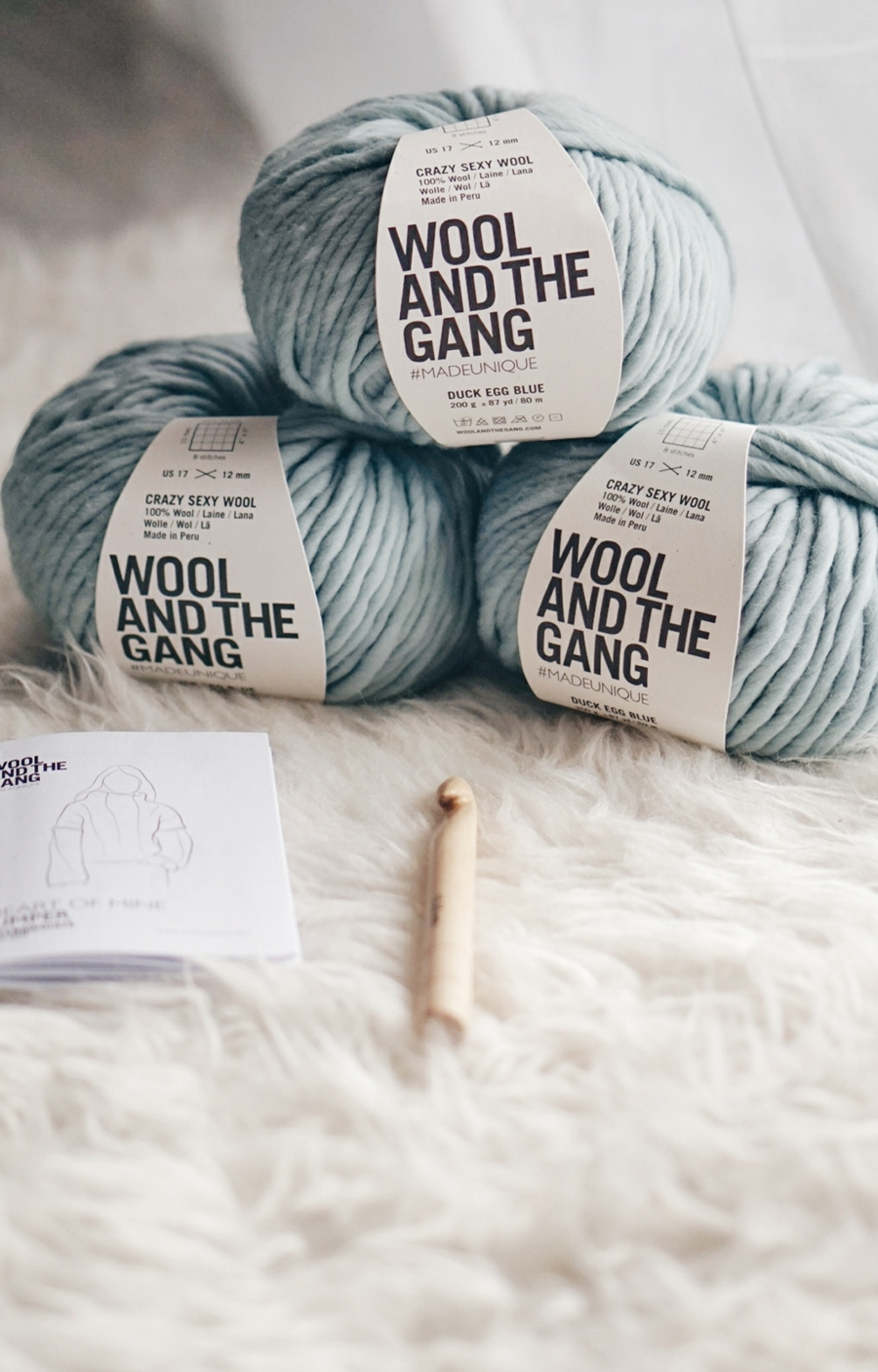 WOOL AND THE GANG HEART OF MINE JUMPER KIT