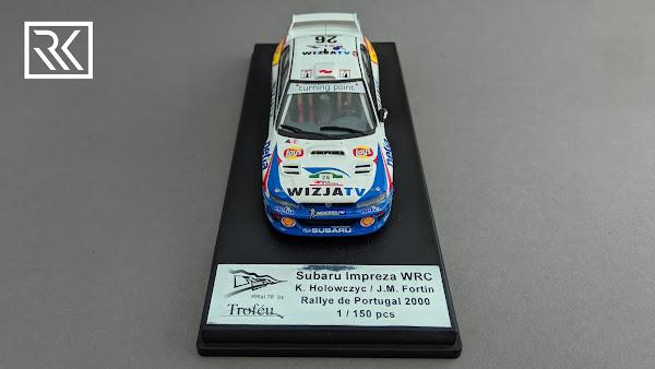 Zdjęcie modelu Trofeu Subaru Impreza S5 WRC '99, Hołowczyc / Fortin, Rally Portugal 2000, Limited edition 1 of 150