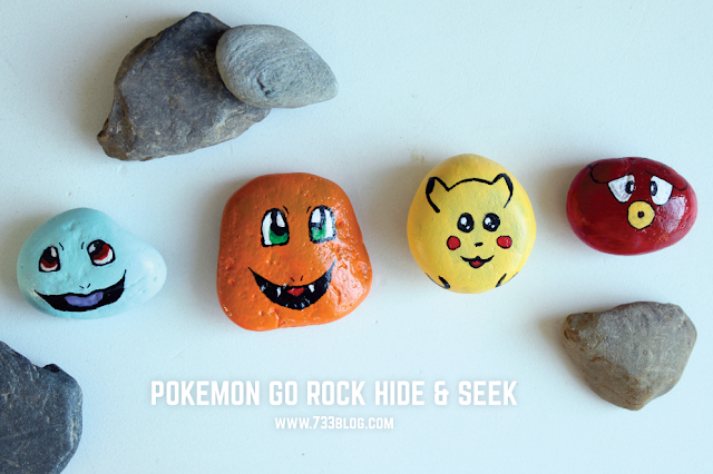 pokemon go painted rocks