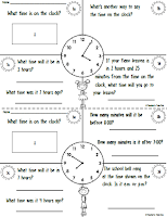 Free Mini Workbook Time and Time Elapse Trial