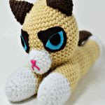 http://www.ravelry.com/patterns/library/grumpy-flat-cat-amigurumi---video