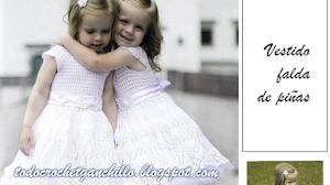 Patrones crochet de vestido para nena