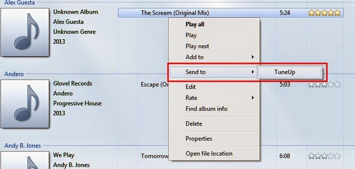 Perbaiki info data lagu dengan Aplikasi TuneUp