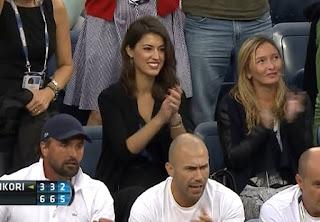 Marin Cilic Girlfriend Kristina Milkovic Applauds For Her Boyfriend