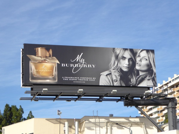 My Burberry fragrance billboard Christmas 2015