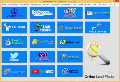 Download Online Lead Finder Version 1.1 Software Free From Berga 2