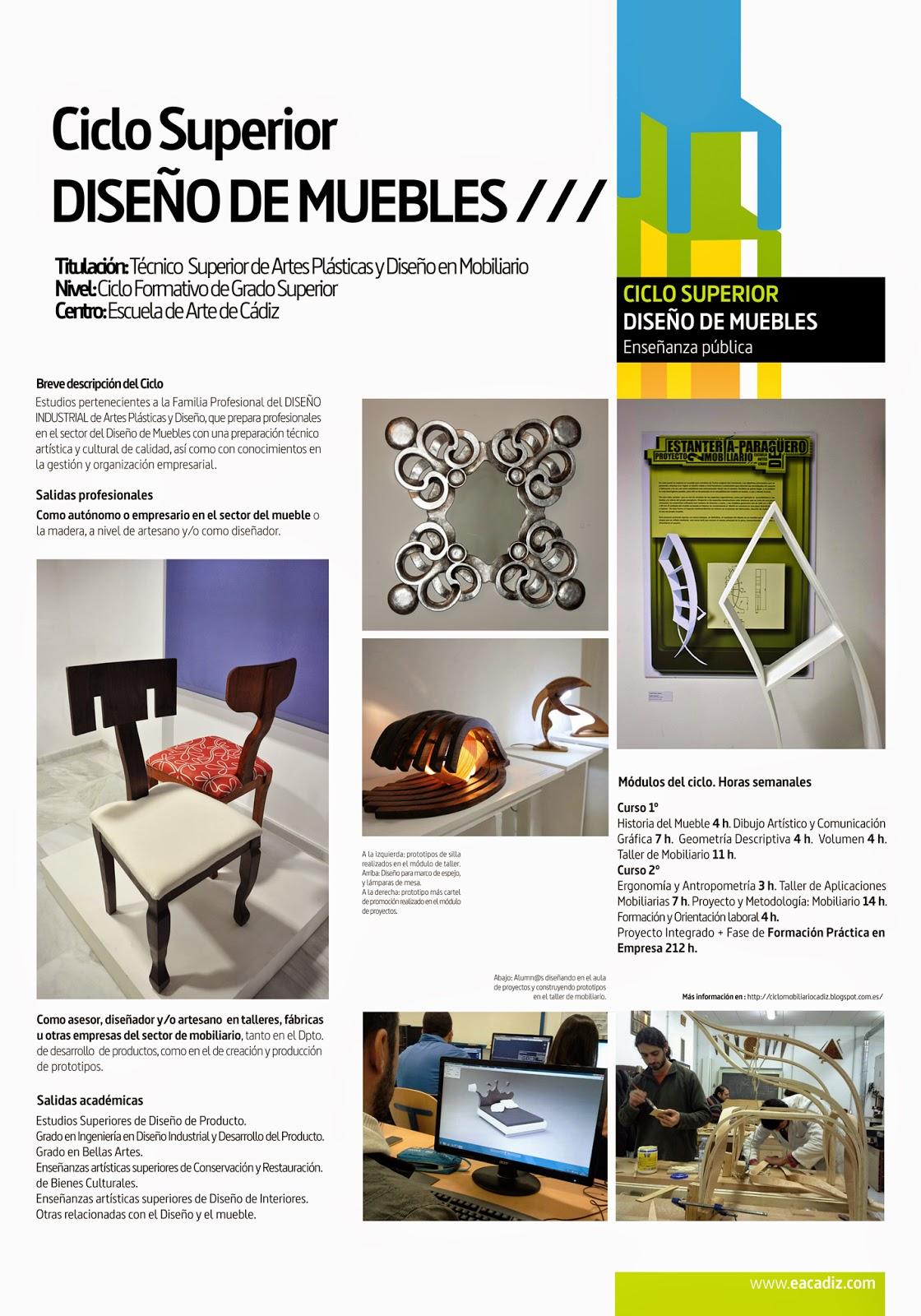 Ciclo De Diseño De Mobiliario Escuela De Arte De Cádiz