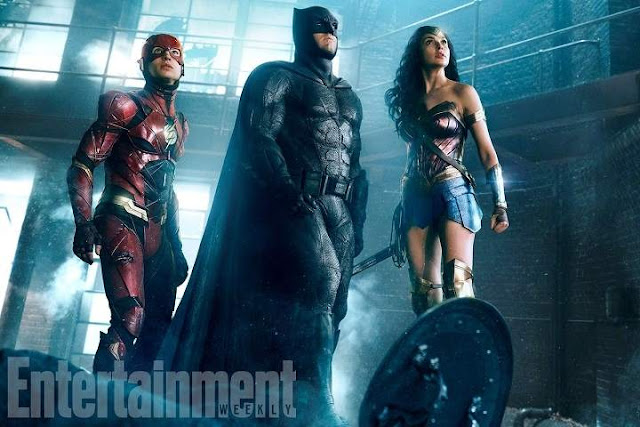 Batman, Wonder Woman y The Flash en Justice League