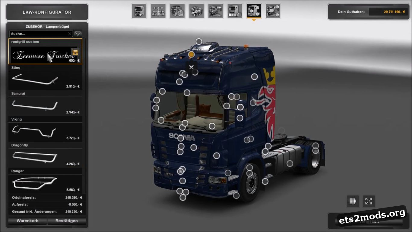 Truck - Scania R Mega Tuning Mod V 1.0