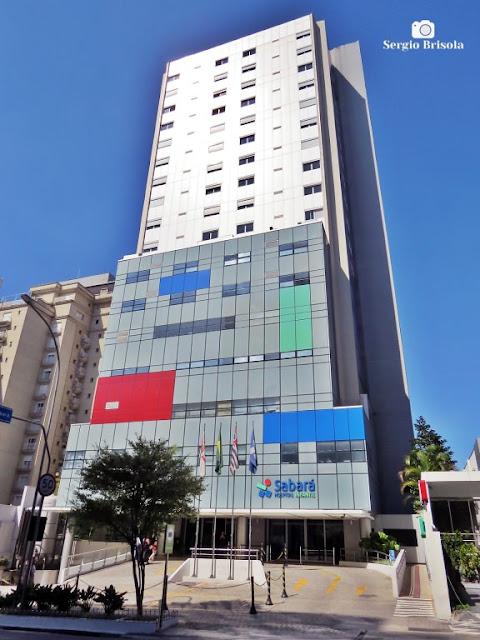 Vista ampla do Hospital Infantil Sabará - Consolação - São Paulo