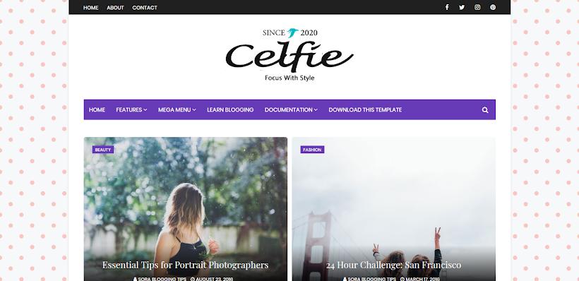 Celfie Free Blogger Template
