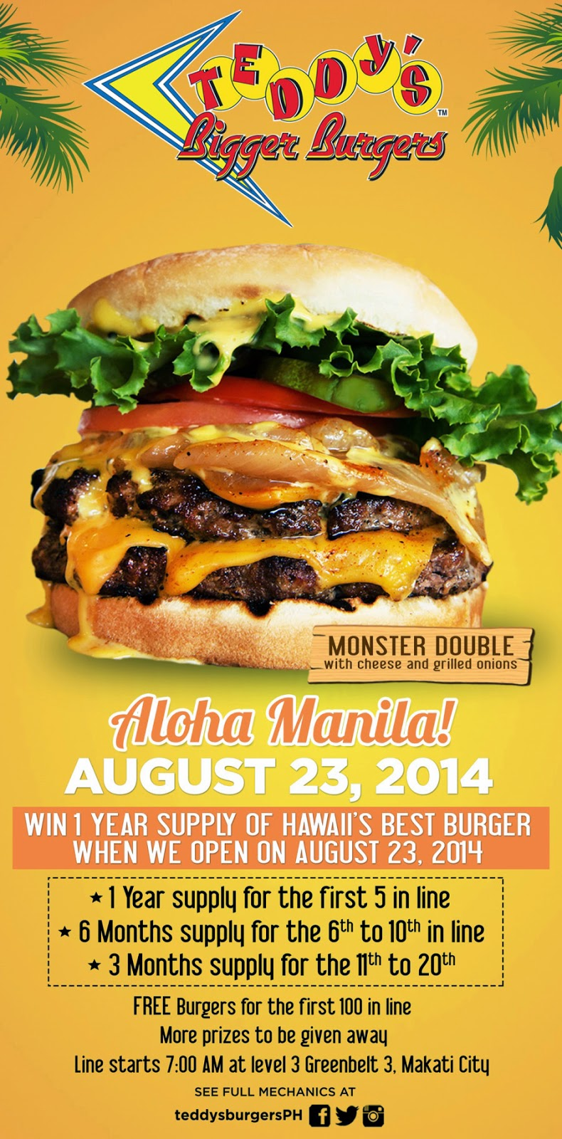 Teddy's Bigger Burger Is Coming In the Philippines