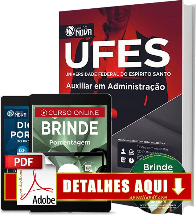 Apostila UFES 2016 Auxiliar em Administração Impressa