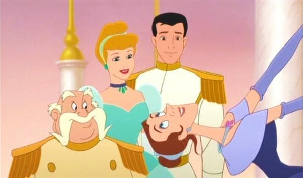 King, Prince Charming, Cinderella, Anastasia Cinderella II: Dreams Come True 2002 animatedfilmreviews.filminspector.com