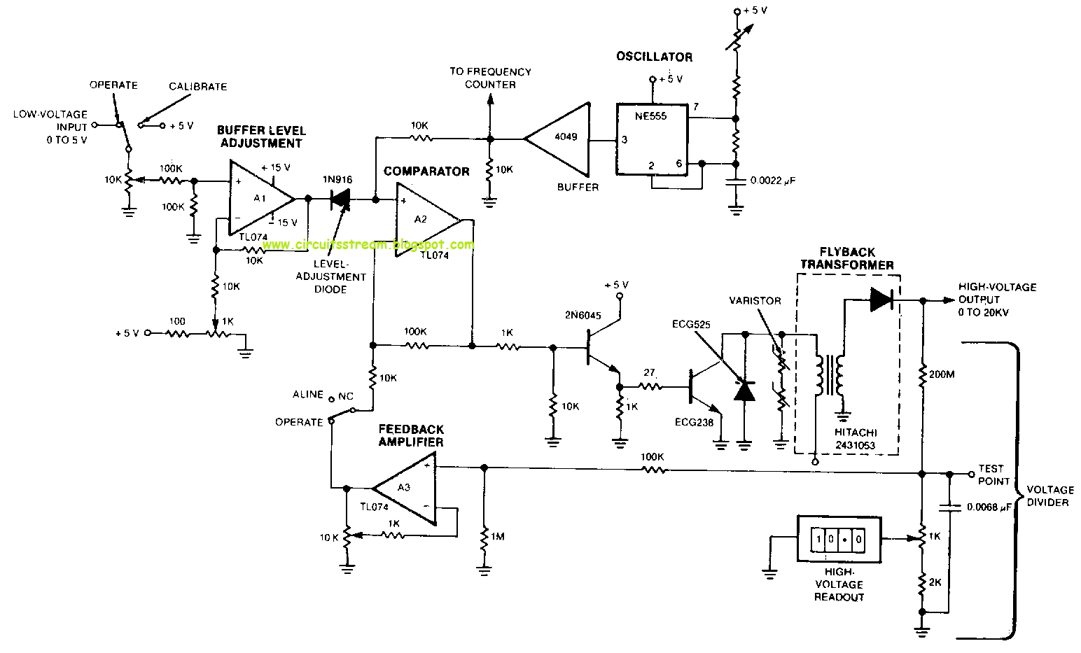 high voltage circuit diagram 1995 ford mustang gt wiring build a remotely adjustable solid state