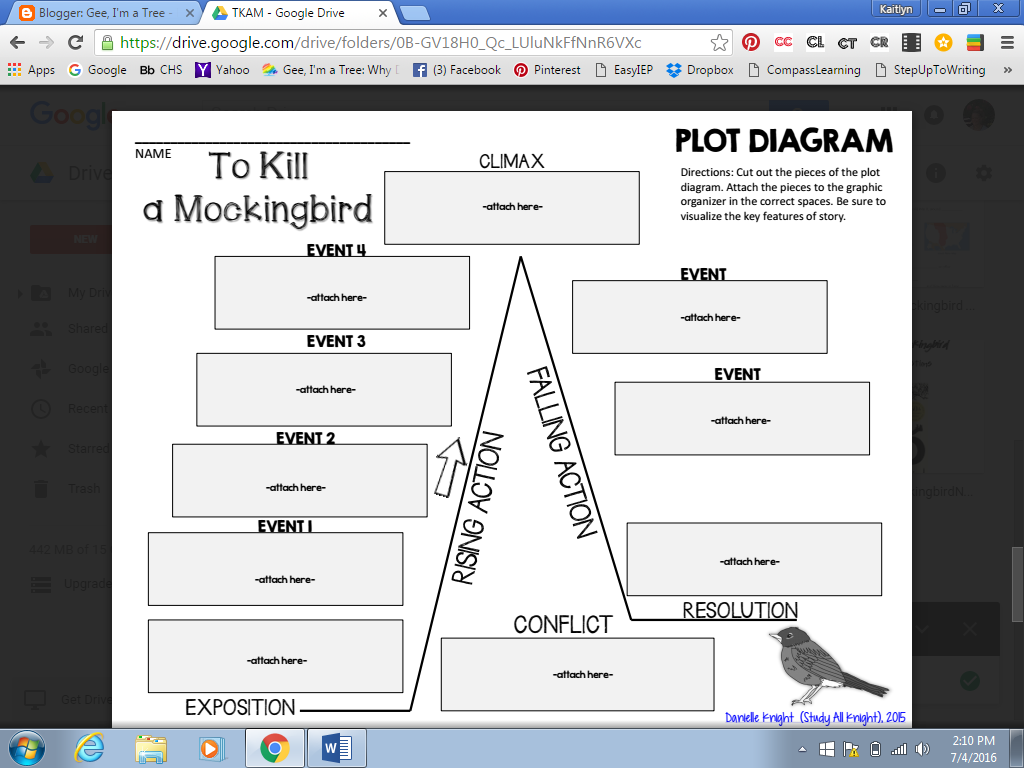 Plot builds character to kill a mockingbird novel folders found free on teachers pay teachers by danielle knight ccuart Images