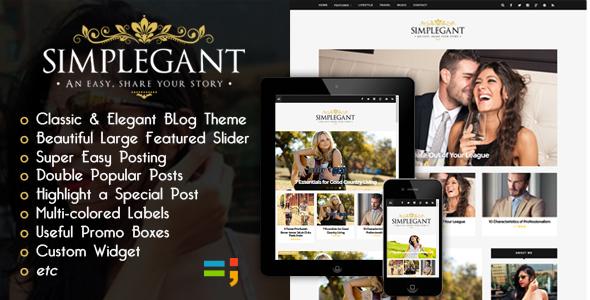 New Simplegant - Responsive Blogger Blog Theme