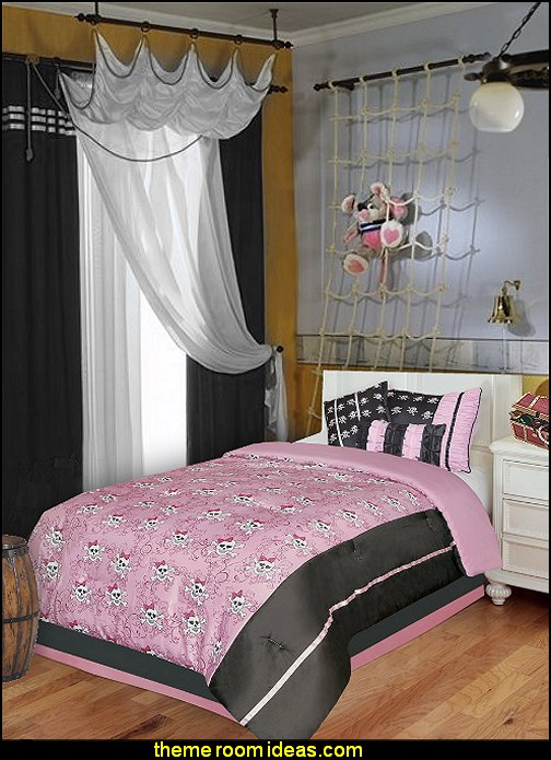 pirate girl theme bedroom decorating idreas-pirates themed bedrooms for girls