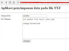 Menyimpan Data Pada File Txt Dengan PHP