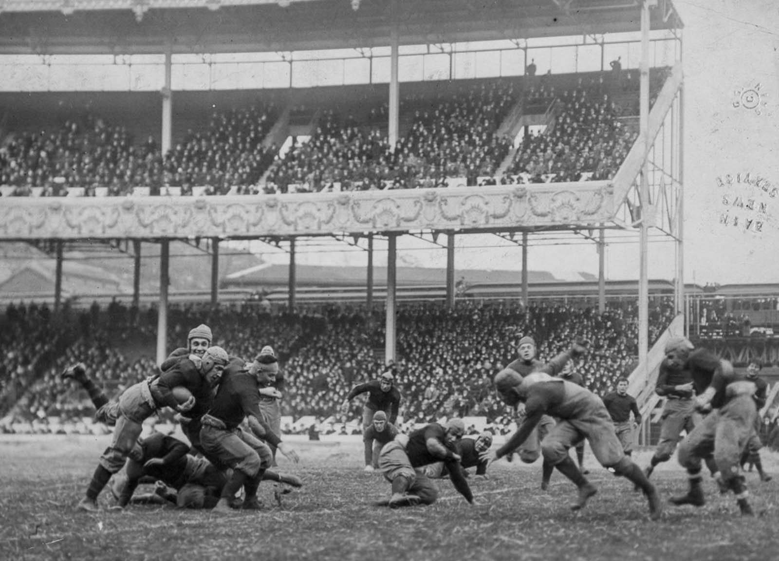 The Army-Navy game at the Polo Grounds in New York. 1916.