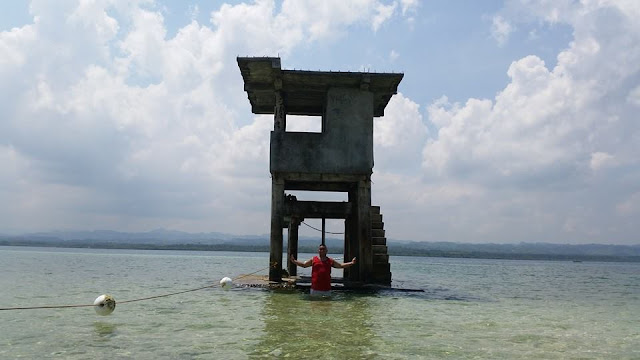 Bantay Dagat watchtower at Campalabo sandbar