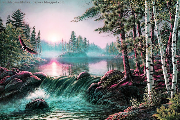 Beautiful Wallpapers Nature Painting Wallpaper
