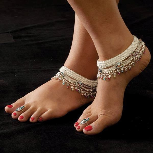 Anklets Designs For Girls Latest Payal An...
