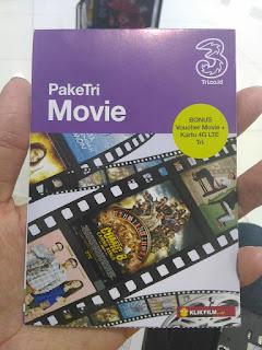 "Paket ""PakeTri Movie"" dari Tri"