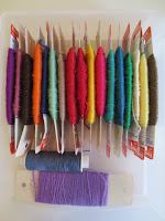 Sock reinforcement yarn comes in lots of colors beyond white