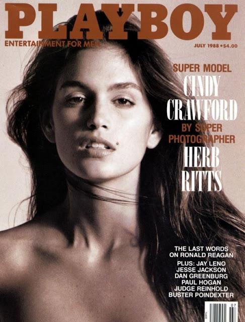 Cindy Crawford, capa da playboy em 1988