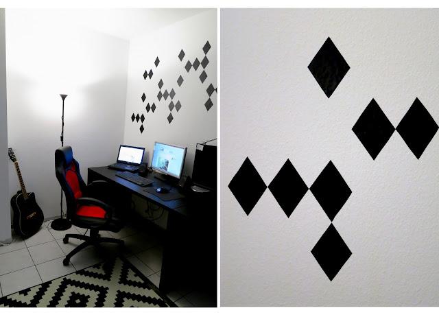 zwischenstand b ro in black white d i y rauten. Black Bedroom Furniture Sets. Home Design Ideas