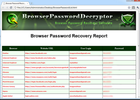 browser password decryptor free download