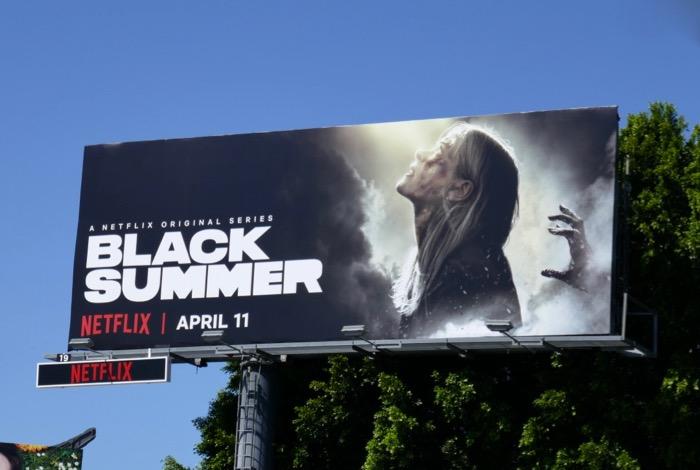 Black Summer series premiere billboard