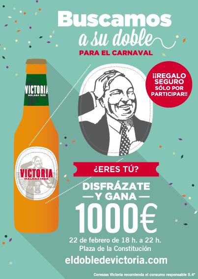 Cartel carnaval doble aleman cerveza victoria