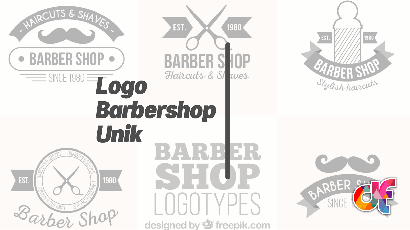 Logo Pangkas Rambut / Barbershop Unik