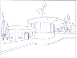 perspective drawing restaurant exterior adventure brianna