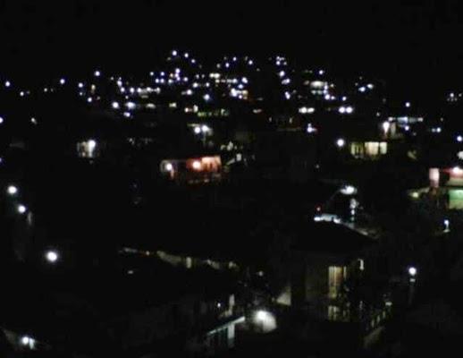 Keindahan Alam Pegunungan Batu Malang Malam Hari Di Lihat Dari Hotel