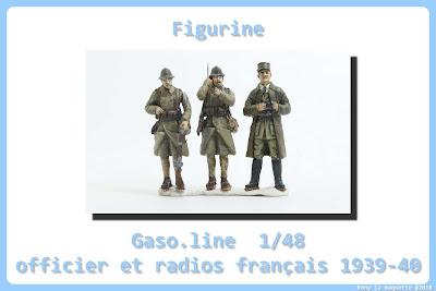 Figurine de l'officier et radio français