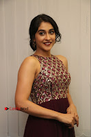 Actress Regina Candra Latest Stills in Maroon Long Dress at Saravanan Irukka Bayamaen Movie Success Meet .COM 0014.jpg