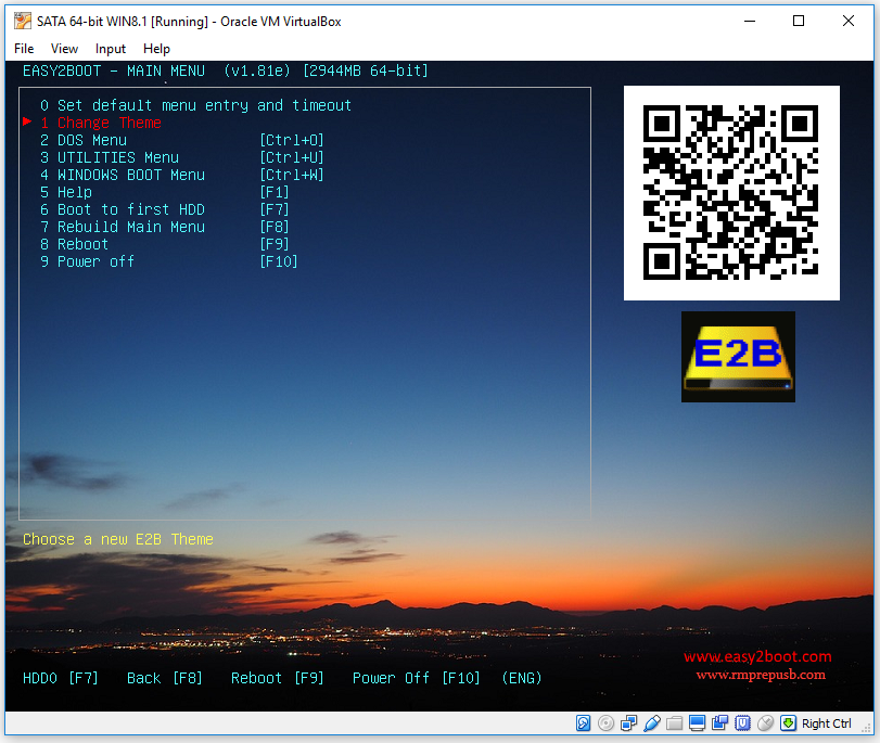Rmprepusb Easy2boot And Usb Booting Qr Code In E2b V1 81f