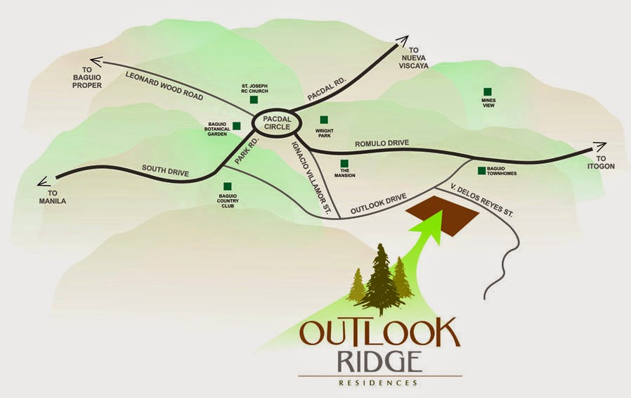 Outlook Ridge Residences Location Map