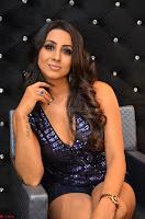 Sanjana looks happy in sparkling short Deep neck Purple Gown ~  Exclusive 79.JPG