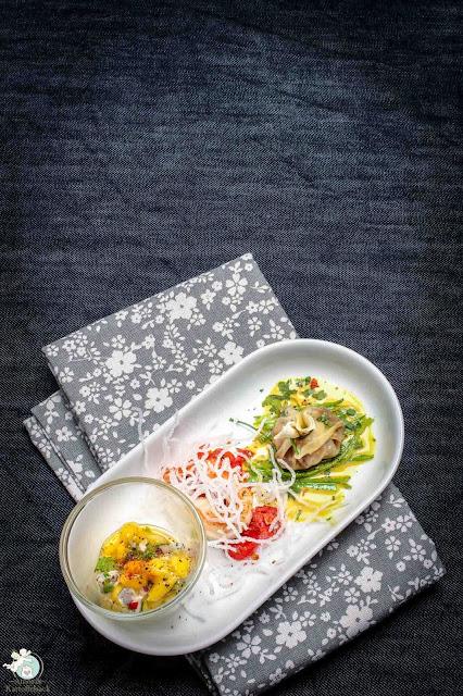 Garnele in verschiedenen Arten - Dinnermenü