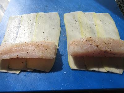 Canelones de calabacín y merluza Thermomix