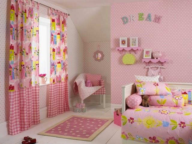 cuarto para niña en rosa